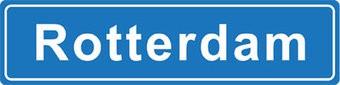 Rotterdam pegatina nombre de ciudad