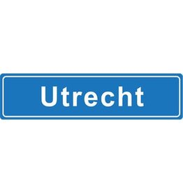 Utrecht plaatsnaam sticker
