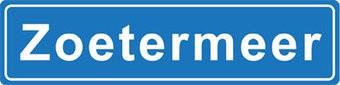 Zoetermeer Ortsschild Sticker