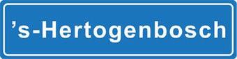 S - Hertogenbosch autocollant nom de ville