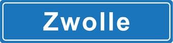 Zwolle pegatina nombre de ciudad