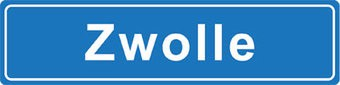 Zwolle place name sticker