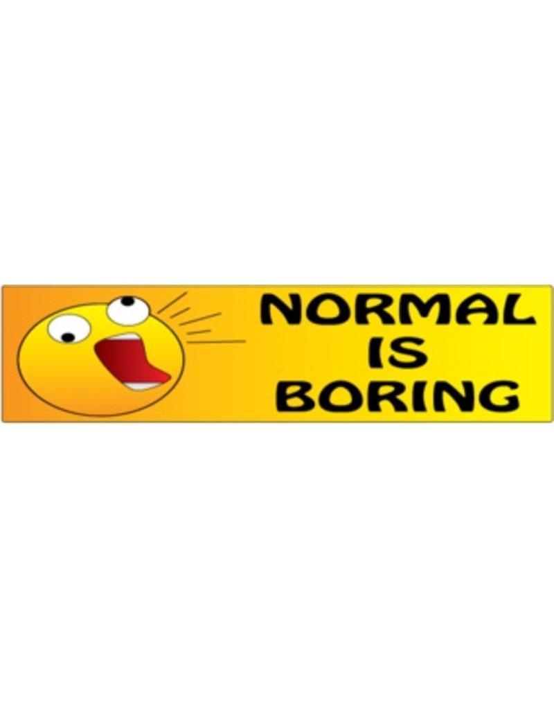 Stoßstange Aufkleber normal is boring