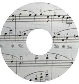 Pegatina protector de radios notas de la música