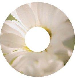 Pegatina protector de radios blanco flor