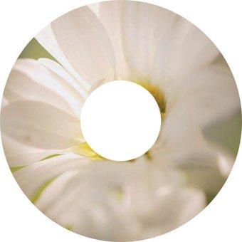 Spaakbeschermer sticker Bloem wit