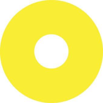 Pegatina protector de radios amarillo