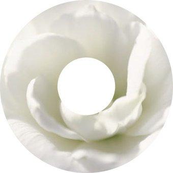 Speichenschutz Sticker weiße Blume