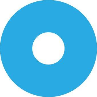 Pegatina protector de radios ligero azul