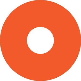 Speichenschutz Sticker orange