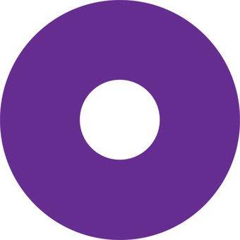 Autocollant protège-rayon violet autocollant