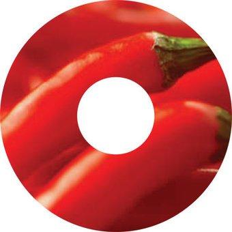 Spaakbeschermer sticker peppers