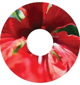 Spoke protector sticker Red Flower