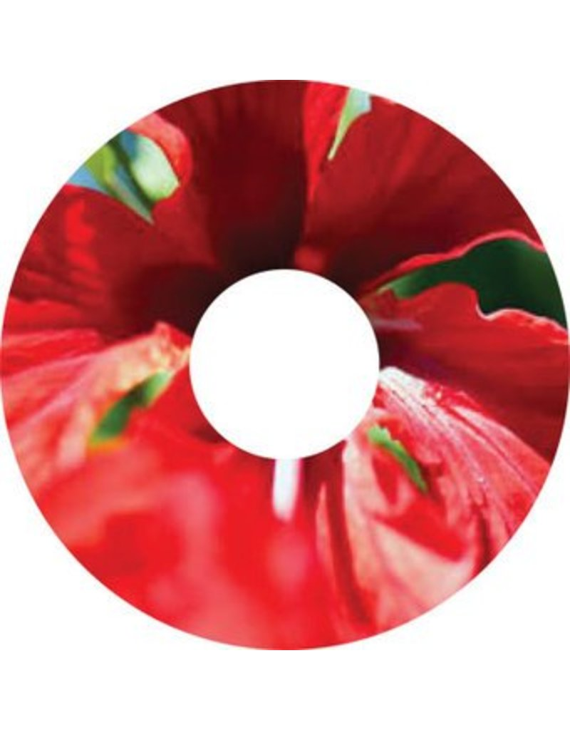 Spoke protector sticker Red Flower