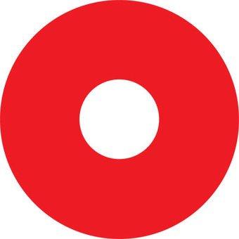 Spoke protector sticker Red