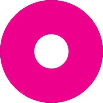 Autocollant protège-rayon rose autocollant
