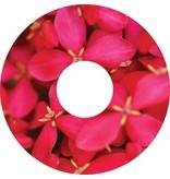 Speichenschutz Sticker Rosa Blumen