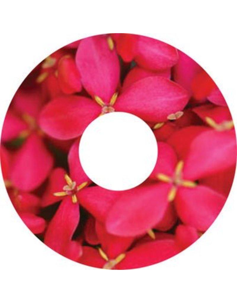 Pegatina protector de radios rosa flores