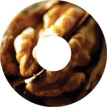Spoke protector sticker Wallnut