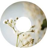 Autocollant protège-rayon fleur blanche autocollant