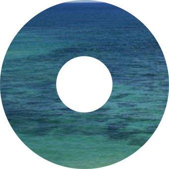 Autocollant protège-rayon mer eau autocollant