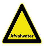 Afvalwater Sticker