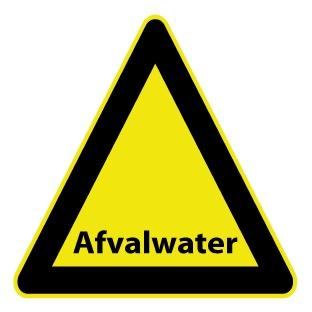 Pegatina aguas residuales