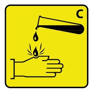 Warnung vor ätzenden Stoffen 3 Aufkleber