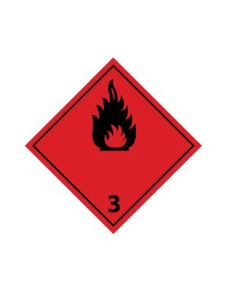 Gaz inflammables 3 noir autocollant