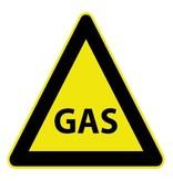 Autocollant gaz