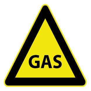 Gas Aufkleber
