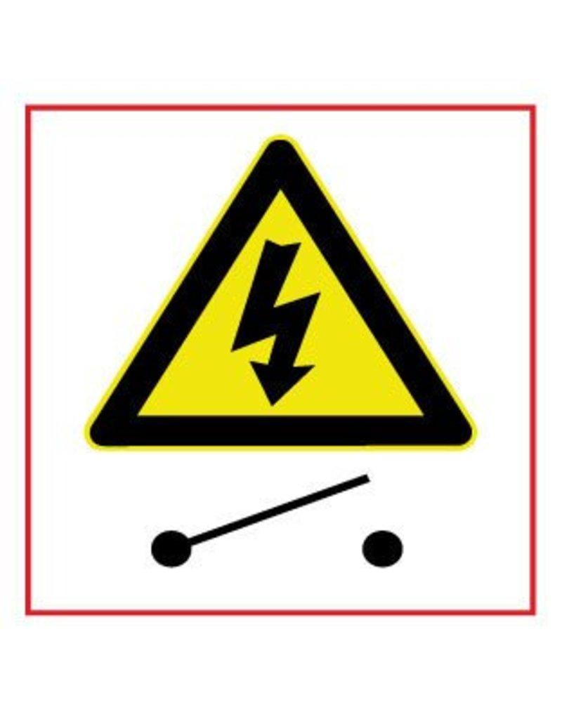 Gefährlicher elektrischer Spannung Schalter Aufkleber