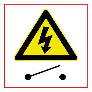 Interruptor de alto voltaje pegatina