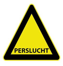 Perslucht Sticker