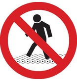 No entrar en los caminos de rodillos pegatina