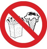 Prohibido entrar con comida o bebidas pegatina