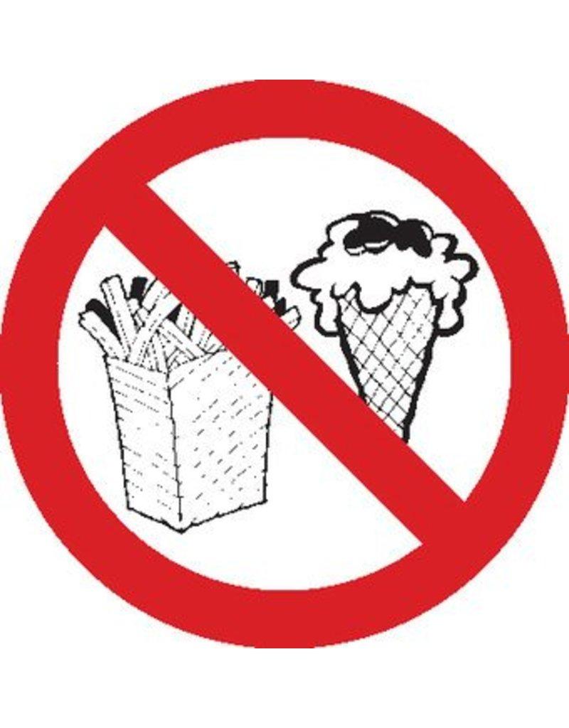 Verbotssticker Essen verboten
