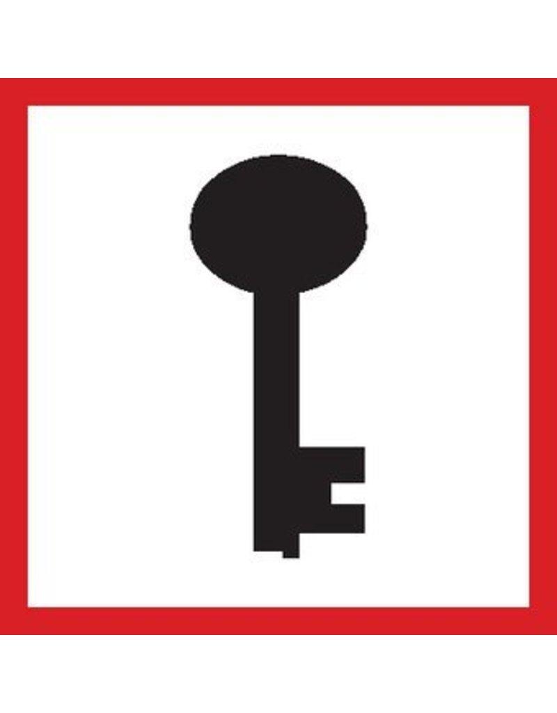 Pegatina llave de emergencia