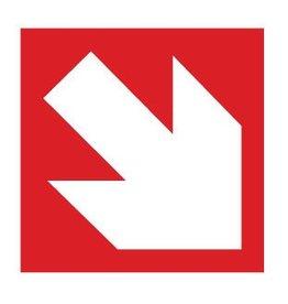 Curved arrow Sticker