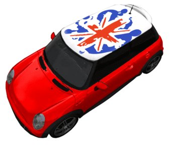 Dak sticker vlag Groot-Brittannië (wit)