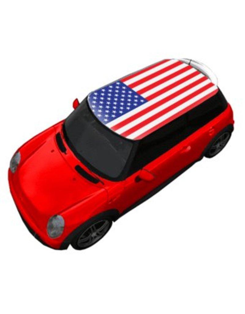 Autocollant toit drapeau d'États-Unis