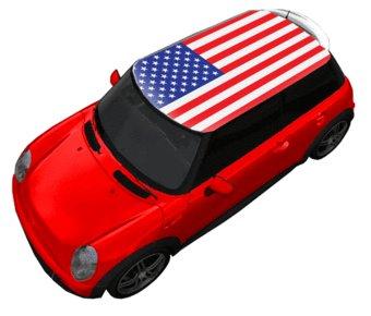 Dachsticker Amerika-Flagge