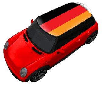 Autocollant de toit Allemagne drapeau