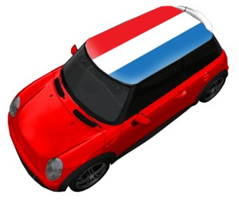 Dak sticker vlag Nederland