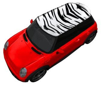 Autodach Sticker Zebra