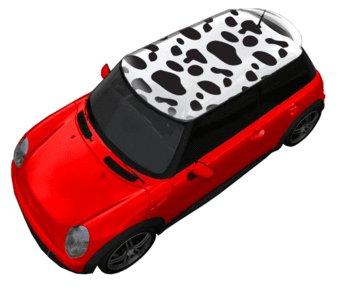 Autocollant toit vache