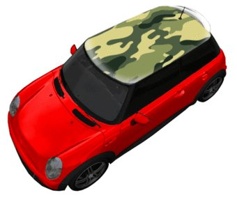 Roof sticker camouflage