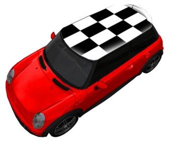 Roof sticker checkerboard