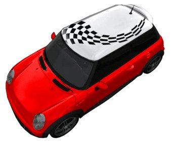 Autocollant toit drapeau de course