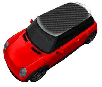 Autodach Sticker Karbon